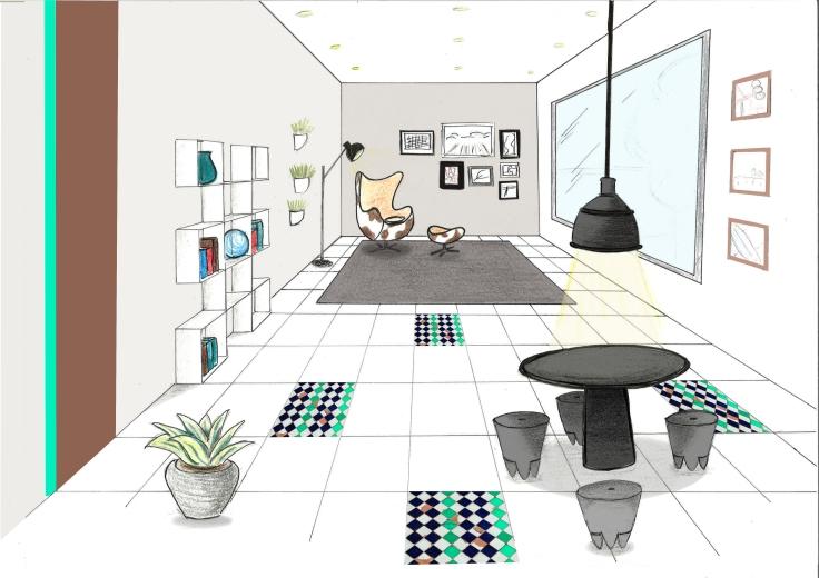 Dessin main lev e blog de design et de d coration for Croquis salle de bain